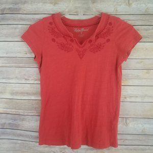 Lucky Brand Embroidered Tee Shirt